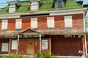 Derelict Buildings In Watertown Upstate New York Print by Robert Ford