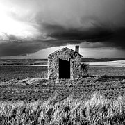 Derelict Prints - Derelict stone shed in  Auvergne. France Print by Bernard Jaubert