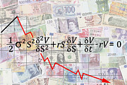 The Economy Digital Art - Derivatives Financial Debacle - Black Scholes Equation by Daniel Hagerman