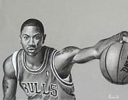 Derrick Rose - Chicago Bulls Print by Prashant Shah