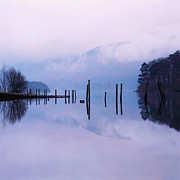 Lake Relections Prints - Derwentwater in the English Lake District Cumbria England UK Print by Jon Boyes