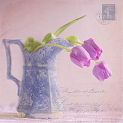 Pitcher Digital Art - Des Tulipe by Betty LaRue