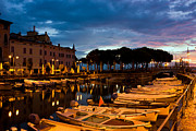 Lake Garda Framed Prints - Desenzano Del Garda marina in the early morning. Framed Print by Kiril Stanchev