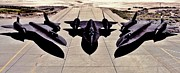 Jets Photos - Desert Blackbirds by Benjamin Yeager