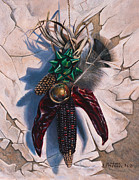 Ornament Painting Framed Prints - Desert Bow Framed Print by Ricardo Chavez-Mendez