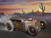 Automotive Digital Art - Desert Burnout by Stuart Swartz