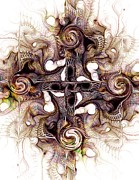 Religious Art Mixed Media - Desert Cross by Anastasiya Malakhova