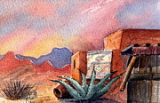 Pottery Paintings - Desert Doorway by Marilyn Smith