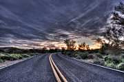 Arizona Sunset Photos - Desert Drive by Anthony Citro
