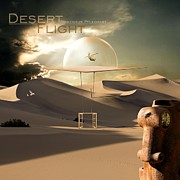 Flying Mixed Media Posters - Desert flight Poster by Franziskus Pfleghart