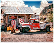 Desert Garage Reworked Print by Steve Benefiel