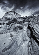 Buttes Photo Prints - Desert Groove Print by Mike  Dawson