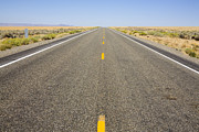Middle Of Nowhere Prints - Desert Highway Print by Mark Greenberg