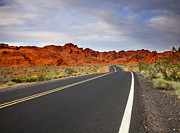 Valley Metal Prints - Desert Highway Metal Print by Mike  Dawson