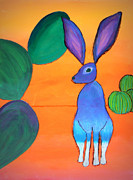 Barrel Paintings - Desert Jackrabbit by Karyn Robinson