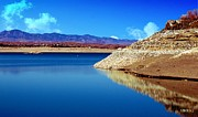 Las Cruces Print Framed Prints - Desert Lake Framed Print by Barbara Chichester