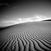 Black And White Prints - Desert Lines Print by Aron Kearney Photography