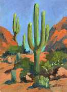 Tucson Originals - Desert Morning Saguaro by Diane McClary