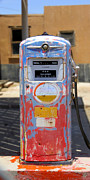 Strong Vertical Images Prints - Desert Mountain Super Gasoline - Bennett Gas Pump Print by Mike McGlothlen