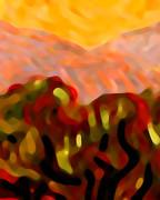 Desert Olive Trees Print by Amy Vangsgard