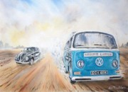 Camper Paintings - Desert Race. by Joe Trodden