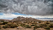 Storm Clouds Framed Prints - Desert Rain Storm Framed Print by Cat Connor