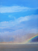 Storm Clouds Painting Originals - Desert Rainbow Number Two by Christine Campbell