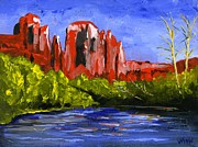 Canyons Paintings - Desert River by Brett Winn