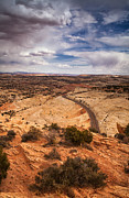 Utah Prints - Desert Road Print by Andrew Soundarajan