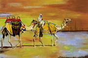 Safari Paintings - Desert Safari by Corporate Art Task Force