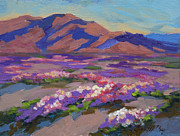 Verbena Paintings - Desert Spring by Diane McClary