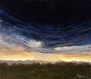 Storm Clouds Paintings - Desert Storm by Joyce Blank