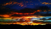 Beauty Framed Prints - Desert Sunset 12 Framed Print by Chris Tarpening