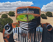 Automobile Paintings - Desert Varnish by Jack Atkins