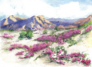 Verbena Paintings - Desert Verbena by Maria Hunt