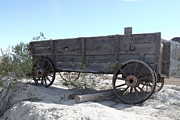 Wagon Wheels Photos - Desert Wagon by Yvonne Gonzalez