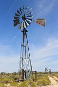 Aermotor Framed Prints - Desert Windmill Framed Print by Jim Mattern