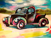 1950s Truck Painting Framed Prints - Deserted Framed Print by Britt Kuechenmeister