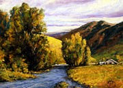 Wyoming Paintings - Deserted by Jim Gola
