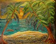 Deserted Tropical Sunset Print by Louise Burkhardt