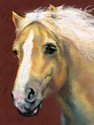 Horse Drawings Metal Prints - Desi On The Run Metal Print by Frances Marino