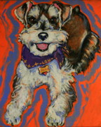 Miniature Schnauzer Paintings - Desi by Tami Curtis Ellis