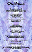 Desiderata 3 - Words Of Wisdom Print by Sharon Cummings