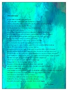 Essential Mixed Media Framed Prints - Desiderata Blue Watercolor Framed Print by Barbara Griffin