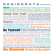 Ginny Framed Prints - Desiderata - Color  Framed Print by Ginny Gaura