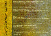 Writings Posters - Desiderata ll Poster by Michelle Calkins