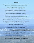 Desiderata On Beach And Ocean Scene Print by Barbara Griffin
