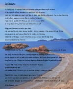 Essential Digital Art Posters - Desiderata on Beach Scene with Rainbow Poster by Barbara Griffin