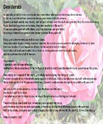 Essential Digital Art Posters - Desiderata on Garden Scene with Pink Roses Poster by Barbara Griffin