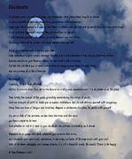 Essential Digital Art Posters - Desiderata on Sky Scene with Full Moon and Clouds Poster by Barbara Griffin